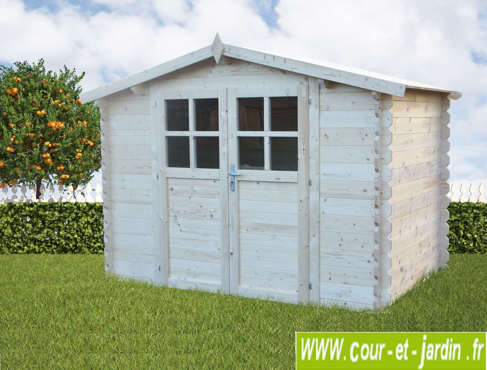 Abri Bois Azur 6M² - Abris Et Rangements- Cour Et Jardin tout Abri De Jardin 3X2