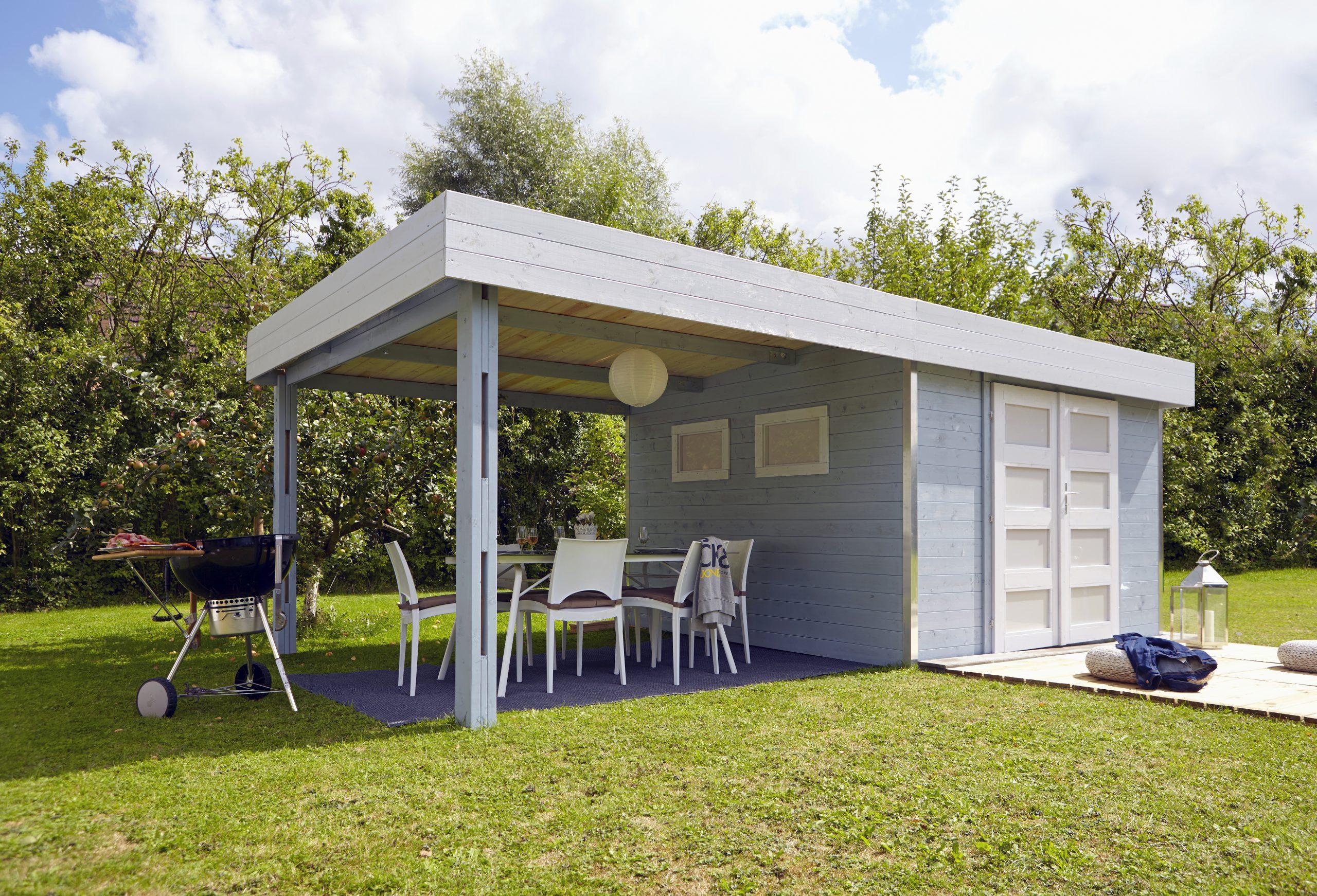 Abri Bois Lounj, 28Mm, 6.56M², 3X2 M, Avec Auvent Couvert ... avec Abri De Jardin 3X2