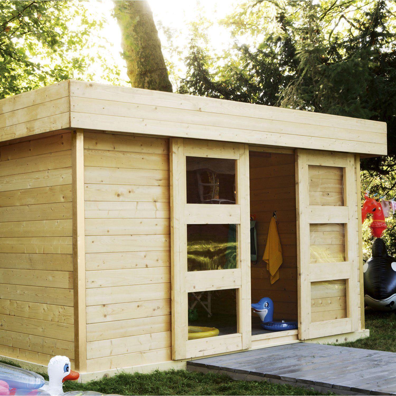 Abri Bois Stockholm 2 | Tiny Cabin Plans, Shed, Garage Doors serapportantà Chalet De Jardin Leroy Merlin