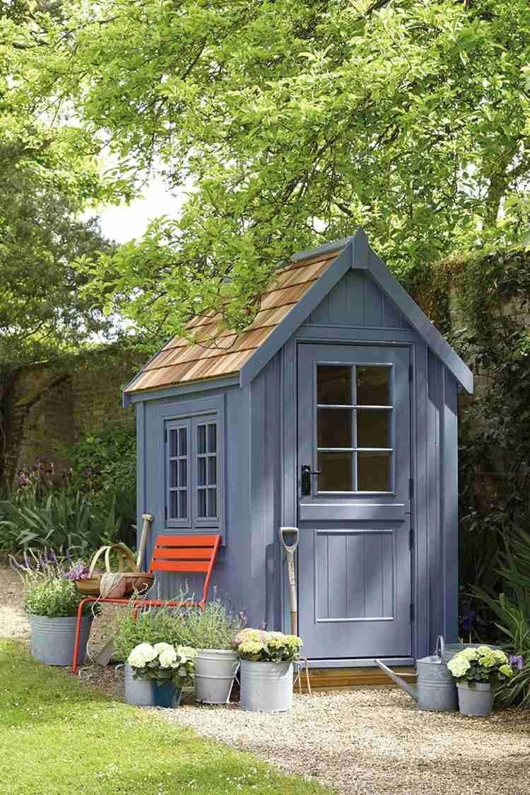 Abri De Jardin -23 Idées Pour Mieux Utiliser Votre Cabane ... concernant Peinture Abri De Jardin