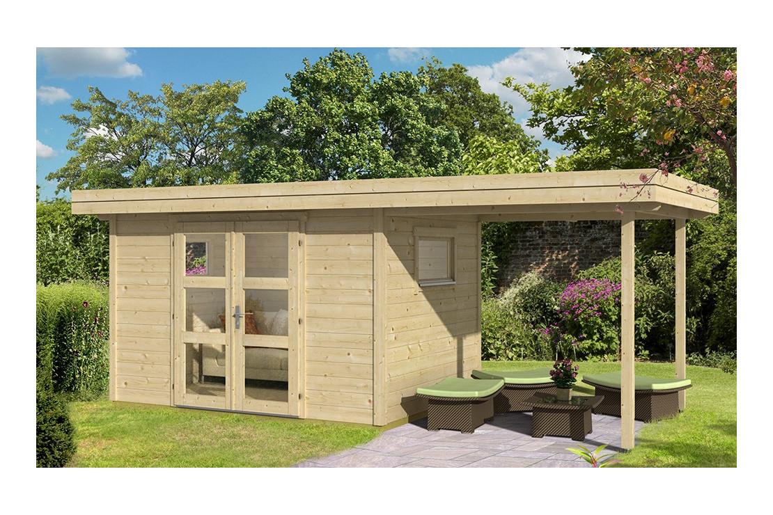 Abri De Jardin Annecy 4 28Mm - 7,3M² Intérieur + 5,2M² intérieur Abri De Jardin Avec Auvent