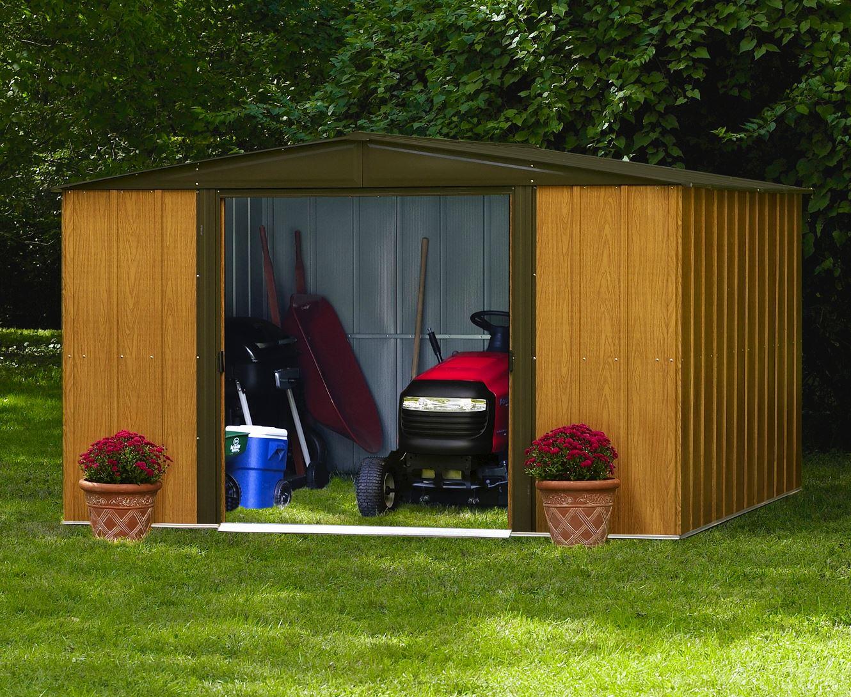 Abri De Jardin Arrow Wl1010 Direct Usa concernant Abri De Jardin Metal Imitation Bois