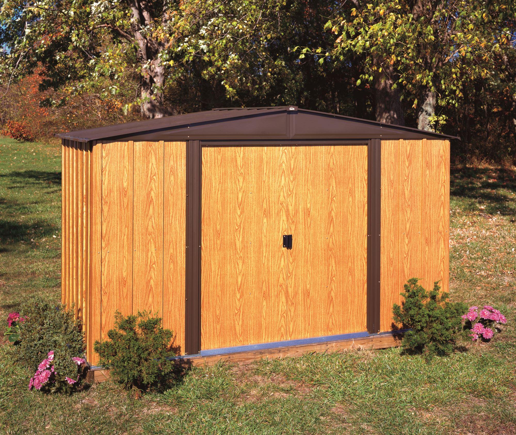 Abri De Jardin Arrow Wl106 En Acier Galvanisé 5 M2 avec Abri De Jardin Acier Galvanisé Imitation Bois