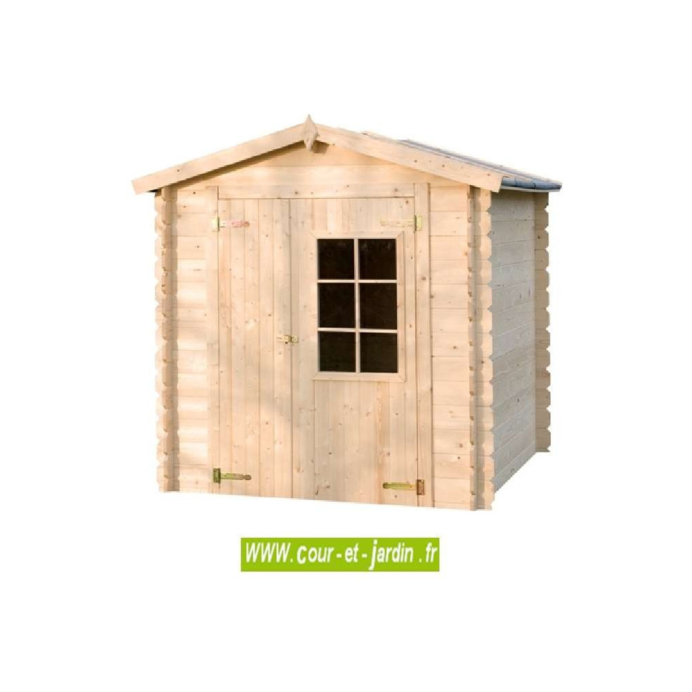 Abri De Jardin Azur 4M² - Abris Et Rangements- Cour Et Jardin tout Abri De Jardin En Bois 5M2
