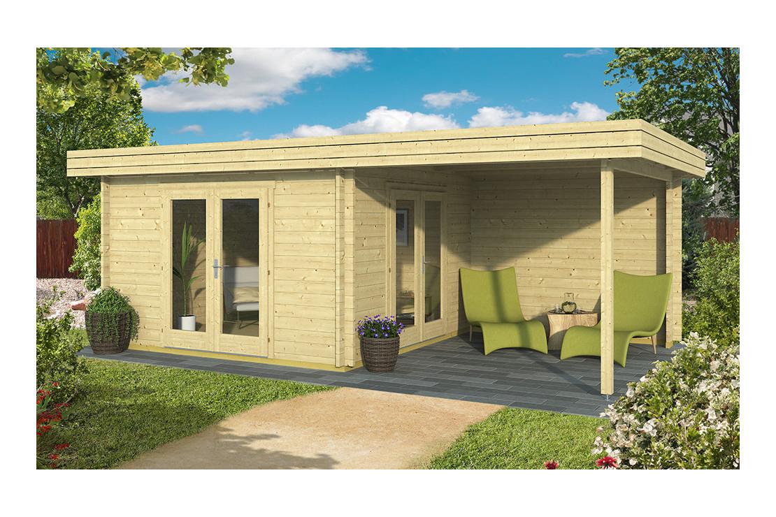 Abri De Jardin Bethune 44 Mm - 11,1 M² Intérieur + 8,9M² destiné Abri De Jardin En Kit