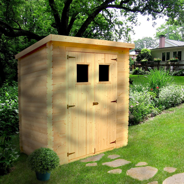 Abri De Jardin Bois 3,05 M2. avec Petit Abri De Jardin Bois