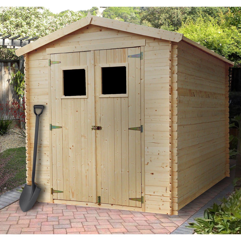 Abri De Jardin Bois 5,00 M2. intérieur Abri De Jardin 4M2