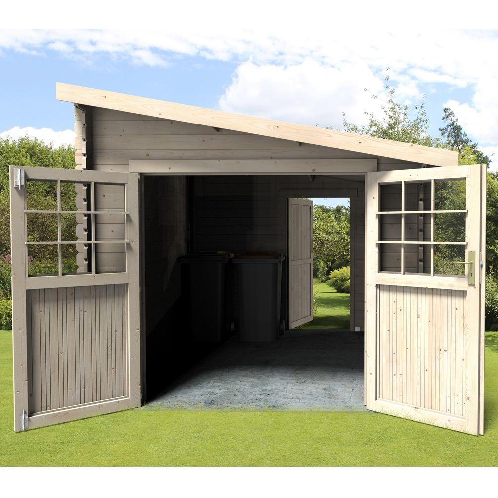 Abri De Jardin Bois Adossable Esprit 9,59 M² Ep. 28 Mm destiné Abri De Jardin Monopente