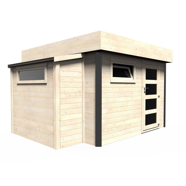 Abri De Jardin Bois Atelier Bow-Window Ep.28 Mm, 10.23 M² ... destiné Abri De Jardin Weldom