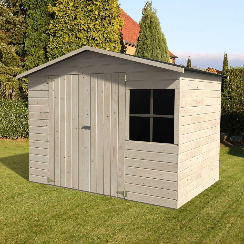 Abri De Jardin Bois Avec Plancher 5.29 M² Ep.12 Mm Loguec dedans Abri De Jardin Gamm Vert