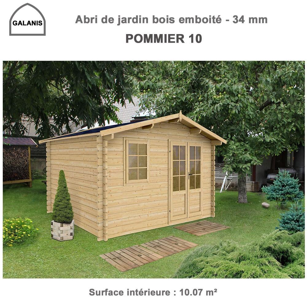 Abri De Jardin Bois Emboité 4.0 X 3.0 M Pommier 10 à Abrie De Jardin