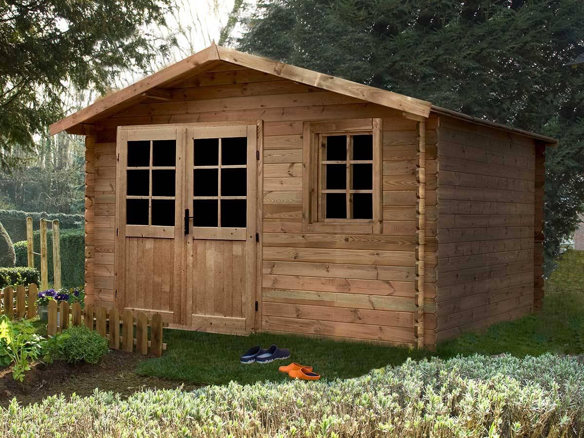 Abri De Jardin Bois En Kit Pour Stockage : Taille De 2 À 30 M² avec Abri De Jardin Bois Traité