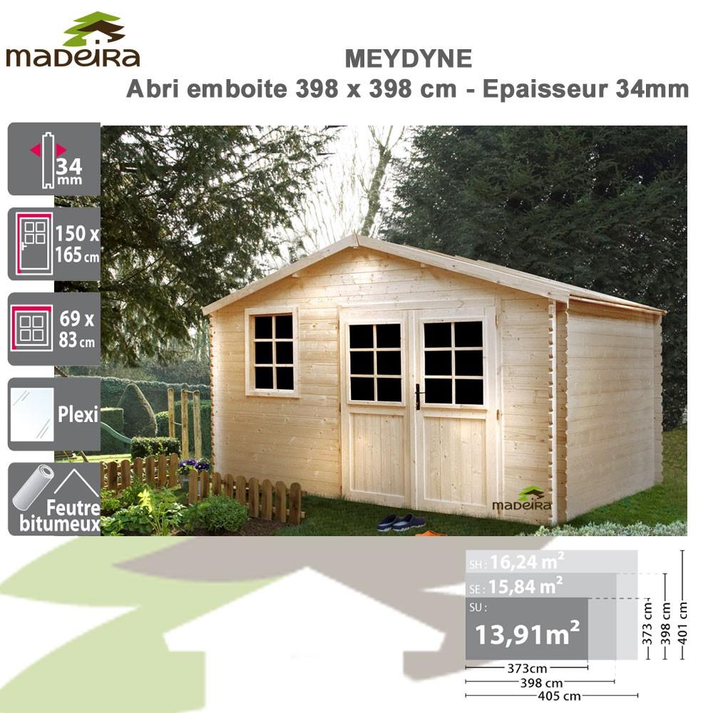 Abri De Jardin Bois Medyne 34 Mm - Brut tout Abri De Jardin Prix Discount
