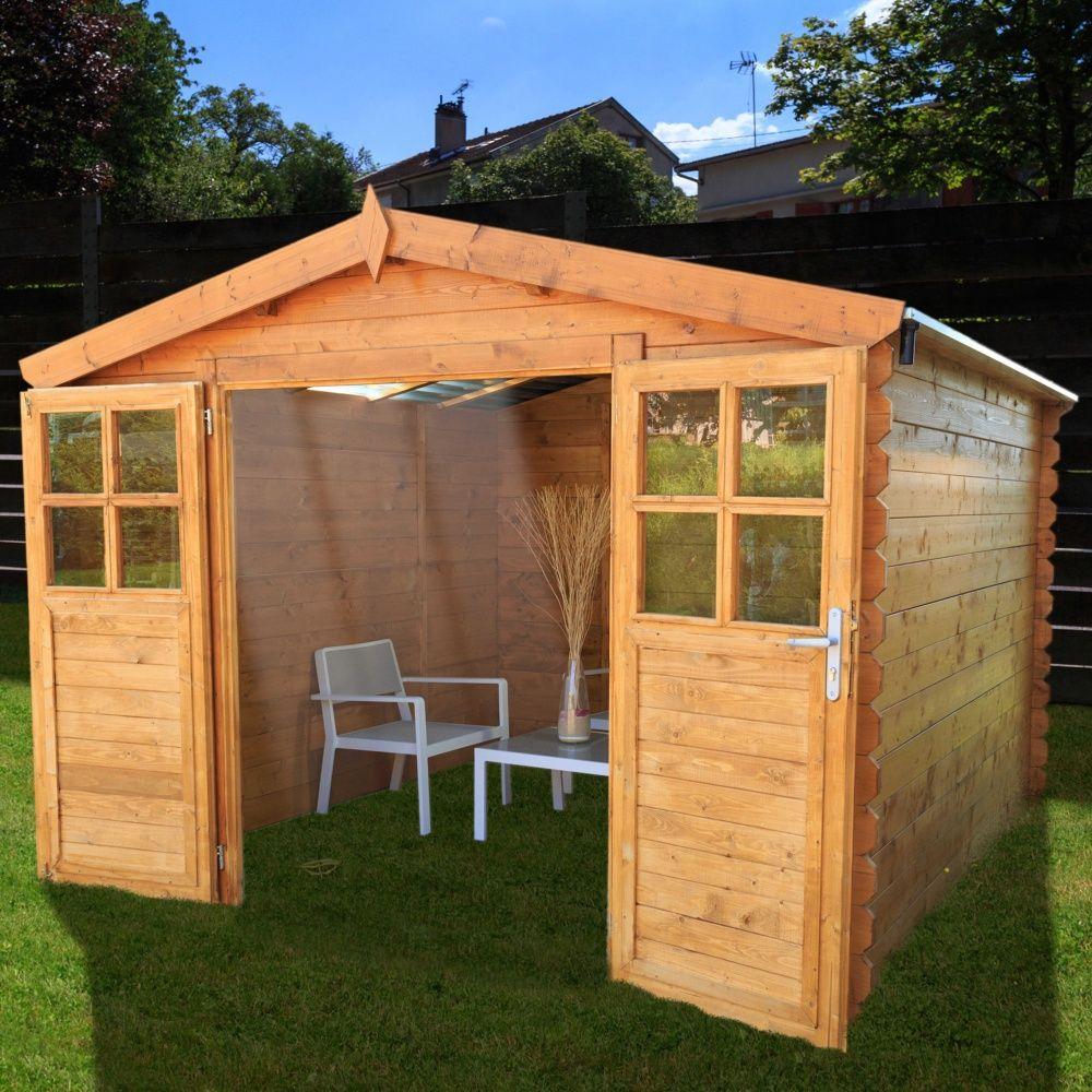 Abri De Jardin Bois Toit Polycarbonate 12,52 M² Ep. 28 Mm Soleil concernant Abri De Jardin 3X2