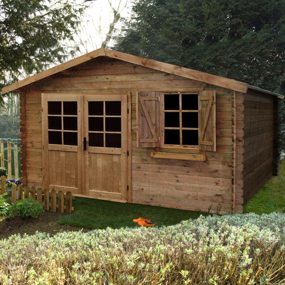Abri De Jardin Bois Traité Autoclave Zahora 17,39 M² Ep. 28 Mm intérieur Abri De Jardin Autoclave Classe 4