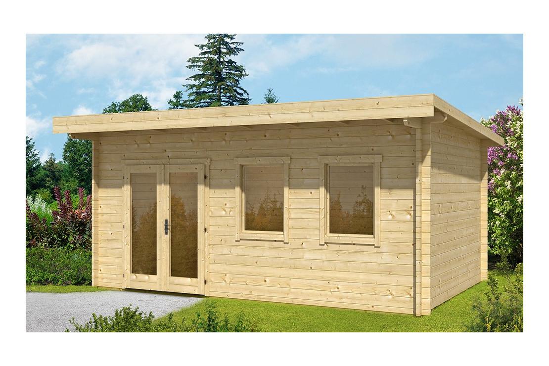 Abri De Jardin Bordeaux 44 Mm - 16,8 M² Intérieur concernant Abris De Jardin Adosse A Un Mur