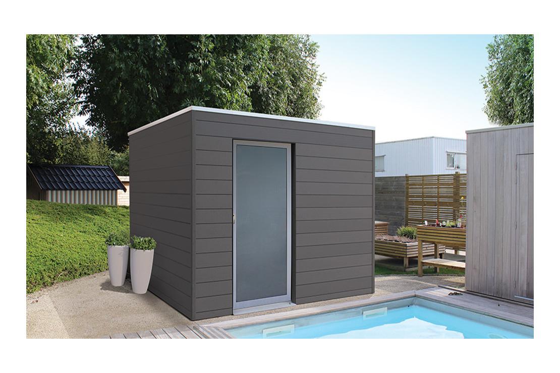 Abri De Jardin Box Wpc Tokyo E, 3X2M Composite tout Abri De Jardin Pvc Toit Plat