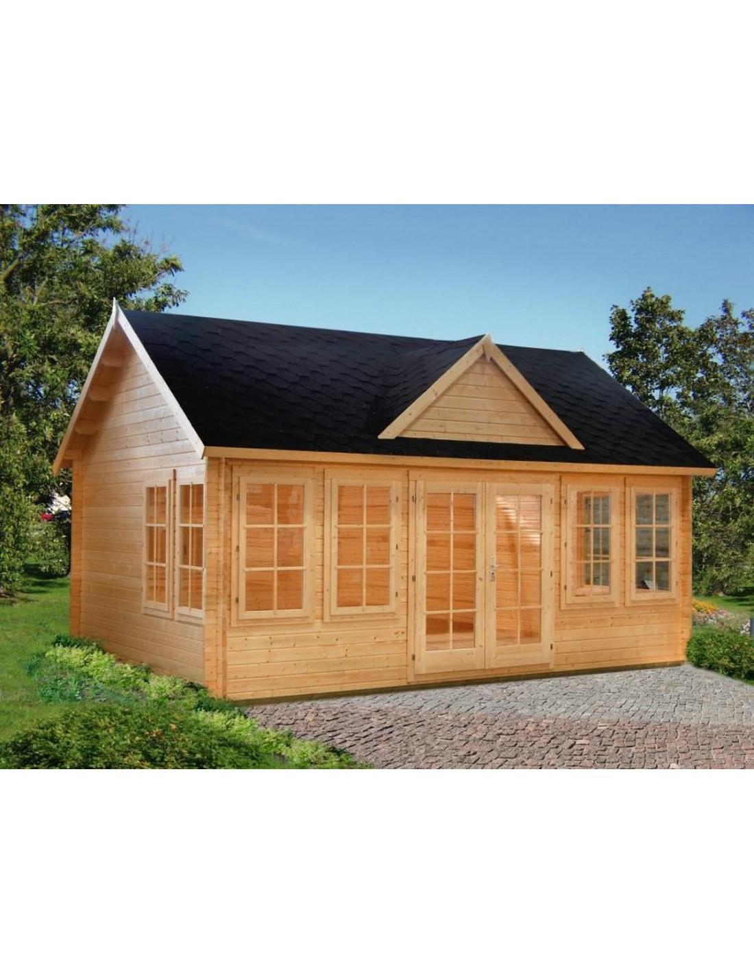 Abri De Jardin Claudia 20 M² Avec Plancher - Serres-Et-Abris dedans Cabane De Jardin Habitable