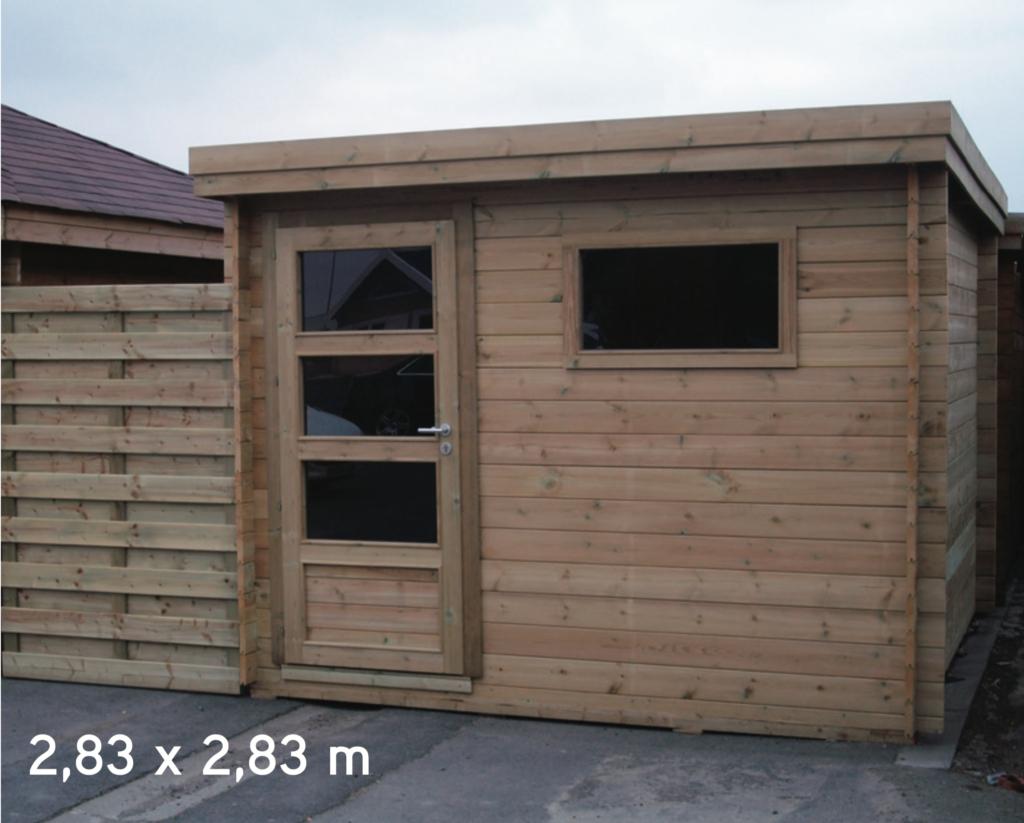 Abri De Jardin Contemporain 2,83 Mètres De Façade pour Abri De Jardin Autoclave Classe 4