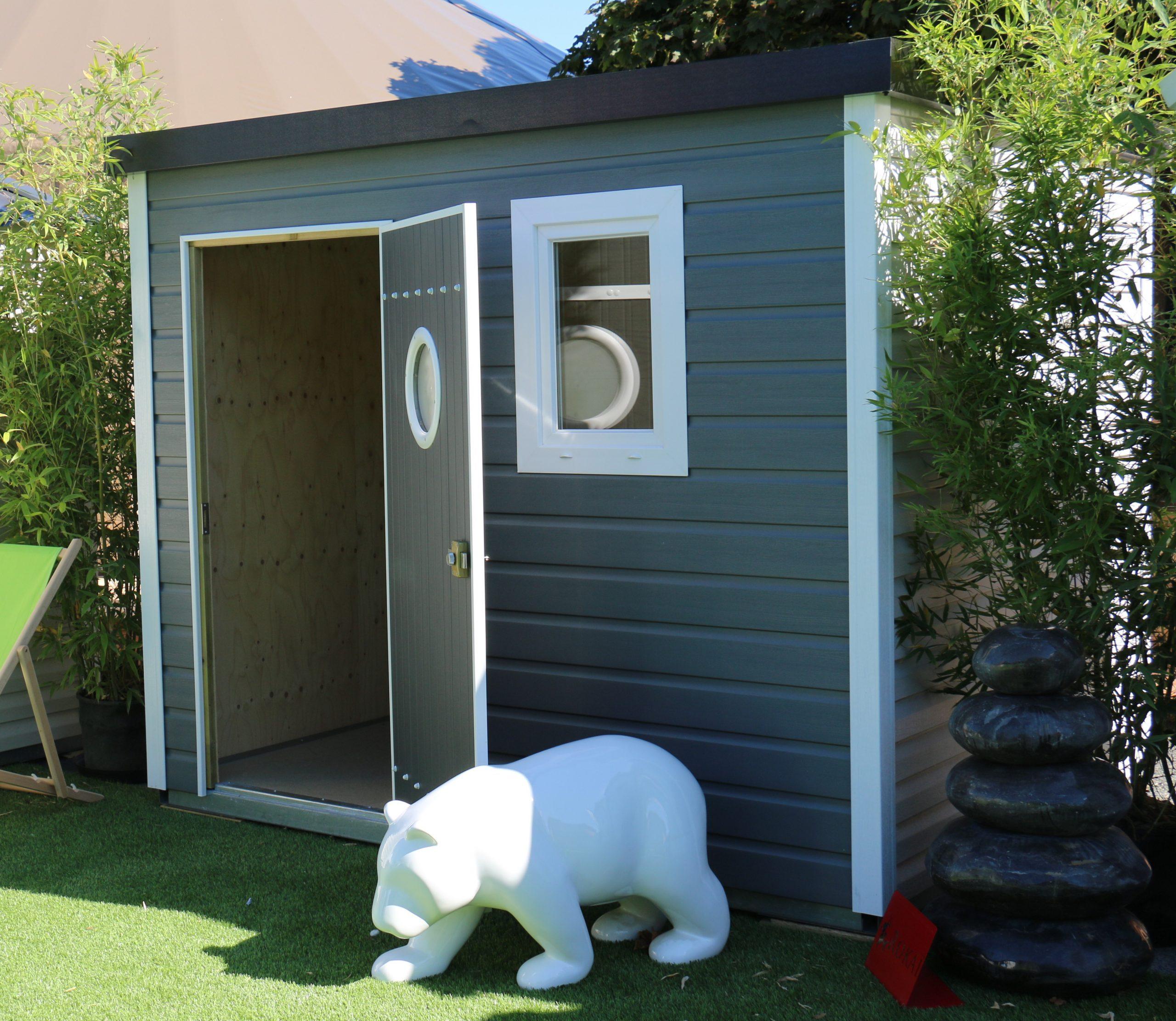 Abri De Jardin Design Toit Plat 5 M² - Abri Pvc < 10 M² Nea ... à Abri De Jardin Pvc Toit Plat