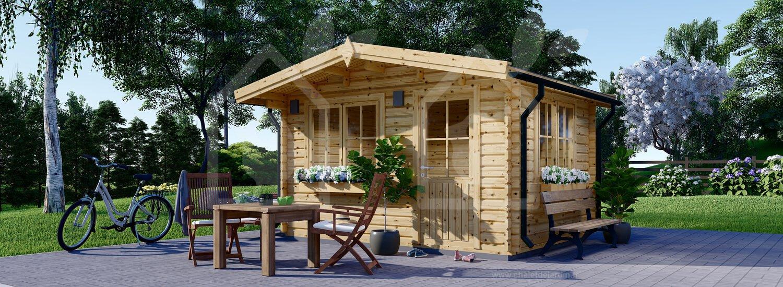 Abri De Jardin Dreux (44 Mm), 4X3 M, 12 M² pour Prix D Un Abri De Jardin En Bois