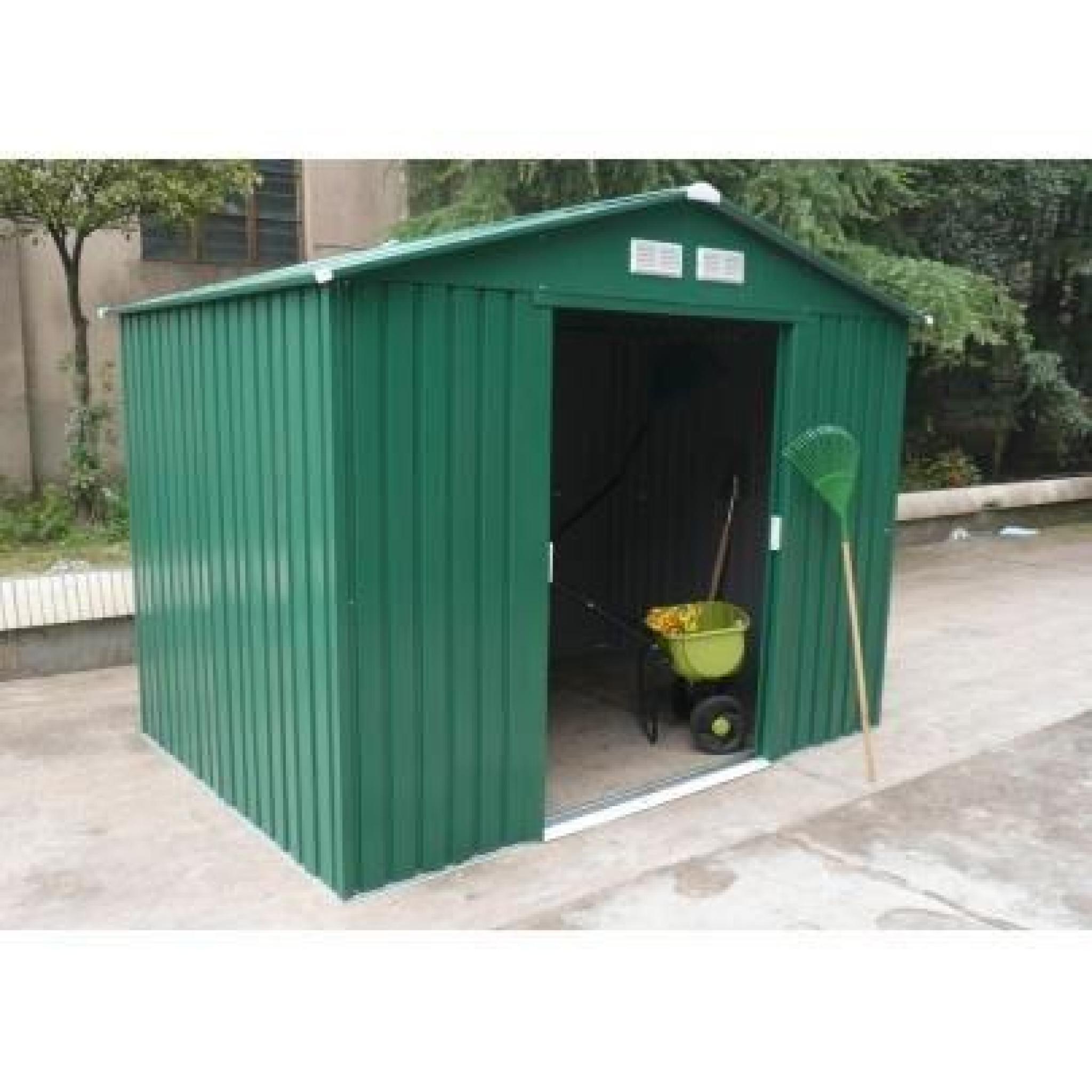 Abri De Jardin En Acier Galvanisé Kiosko - 5.9M² pour Abri De Jardin Metal Pas Cher