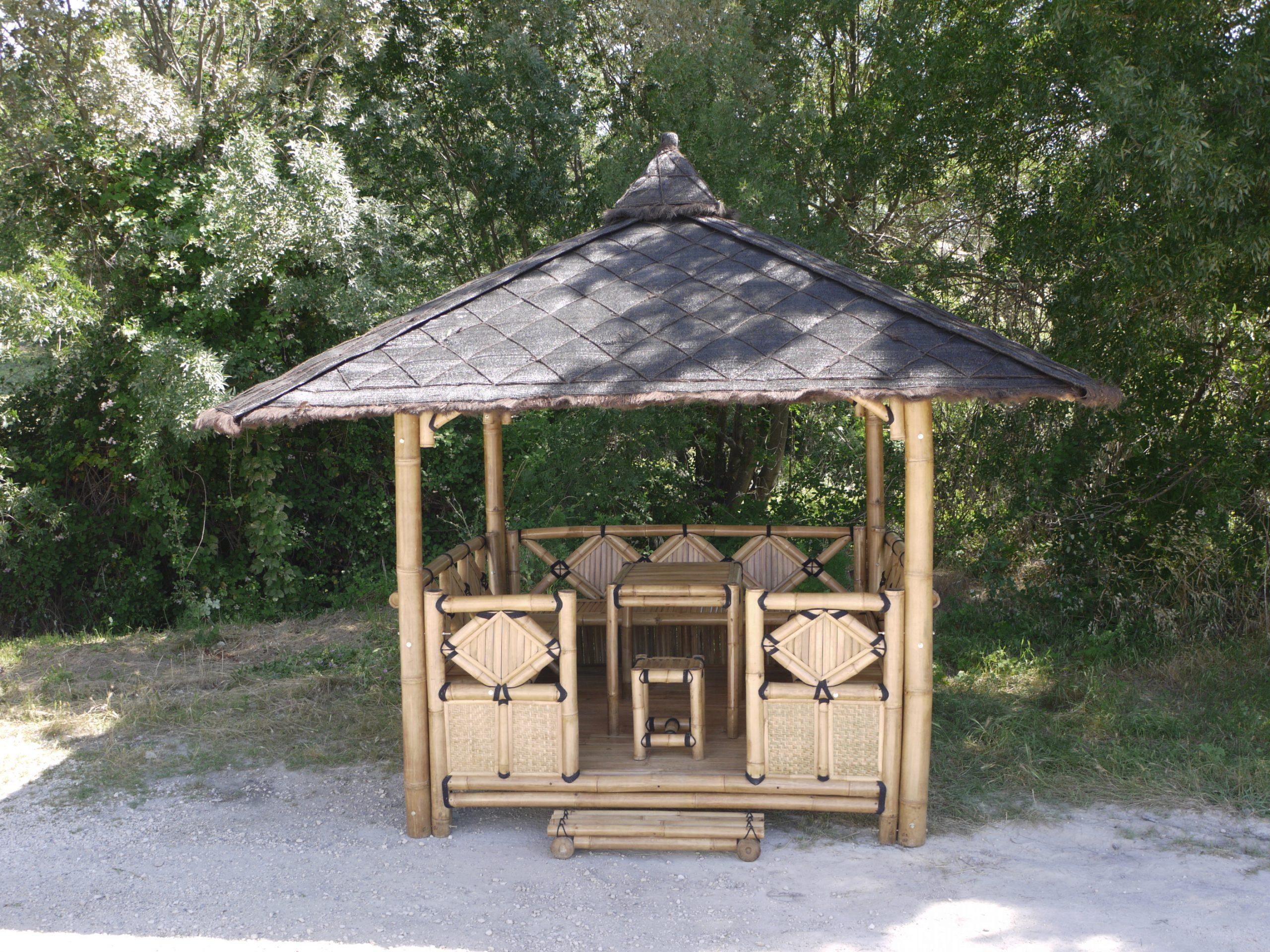 "Abri De Jardin En Bambou ""bali"" concernant Abri Jardin Bambou"