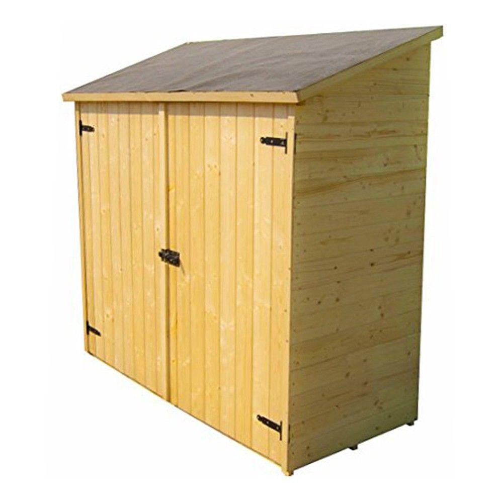 Abri De Jardin En Bois 16 Mm 175 X 72 X H174 Cm + Plancher Ed1708E2 avec Abris De Jardin Avec Plancher
