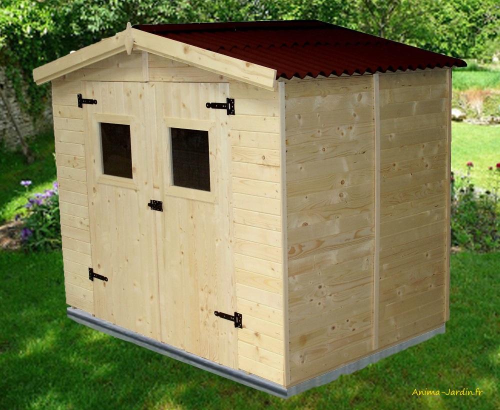 Abri De Jardin En Bois, 16 Mm, 3,70 M², Avec Plancher ... serapportantà Abri De Jardin Avec Plancher