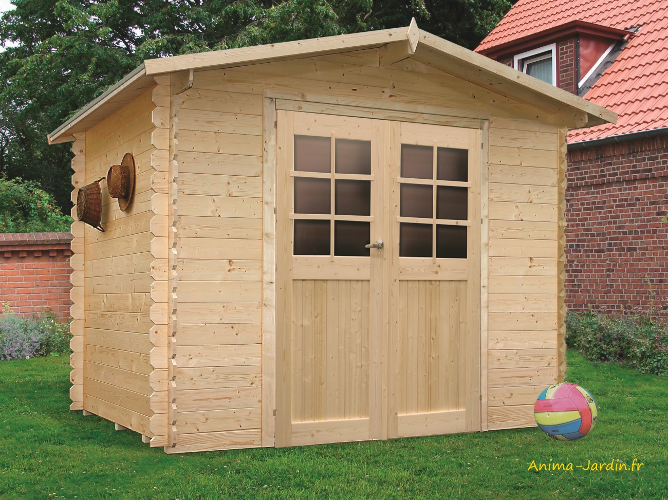 Abri De Jardin En Bois 19Mm, Amberg, 6M², 2 Portes, Solid ... avec Cabane De Jardin En Bois Pas Cher