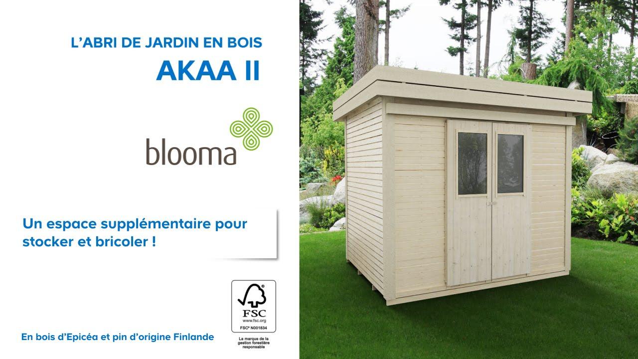 Abri De Jardin En Bois Akaa Blooma (676229) Castorama à Chalet De Jardin En Bois Castorama