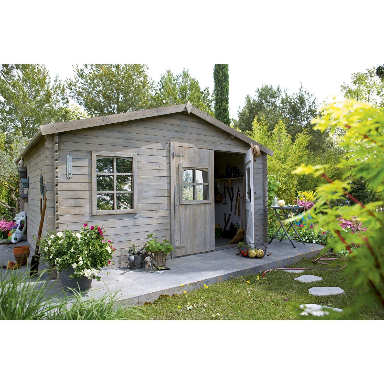 Abri De Jardin En Bois Anguillon - Abri De Jardin Leroy ... encequiconcerne Cabane De Jardin Leroy Merlin