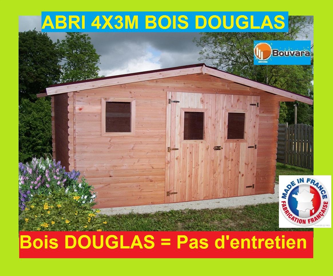 """Abri De Jardin En Bois Douglas 4X3M """"ontario"""" 12M2 pour Abris De Jardin 12M2"""