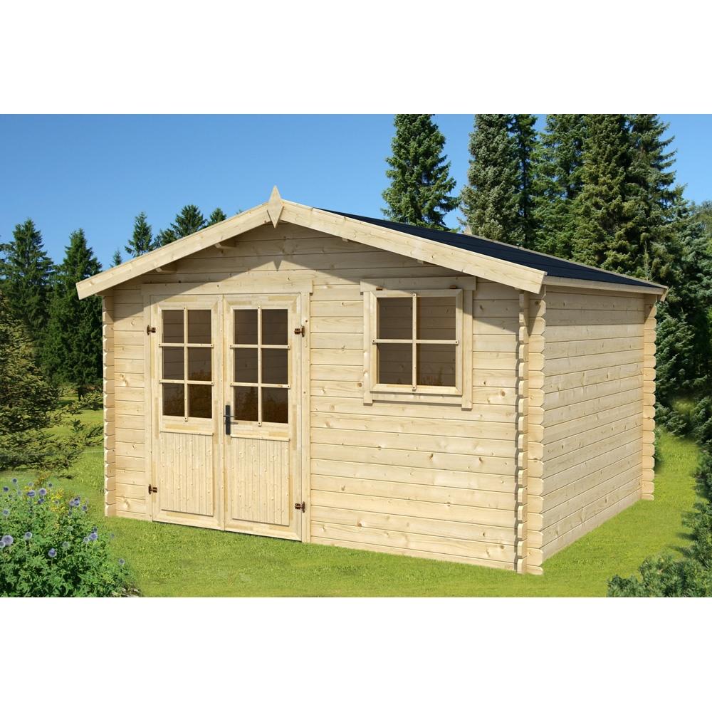 Abri De Jardin En Bois Montana 10,43 M² serapportantà Abri De Jardin Bricorama