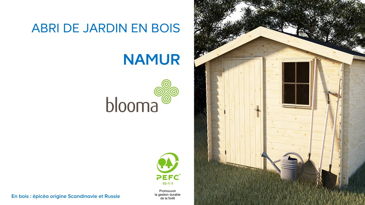 Abri De Jardin En Bois Namur Blooma (630680) Castorama destiné Abri De Jardin En Bois 5M2