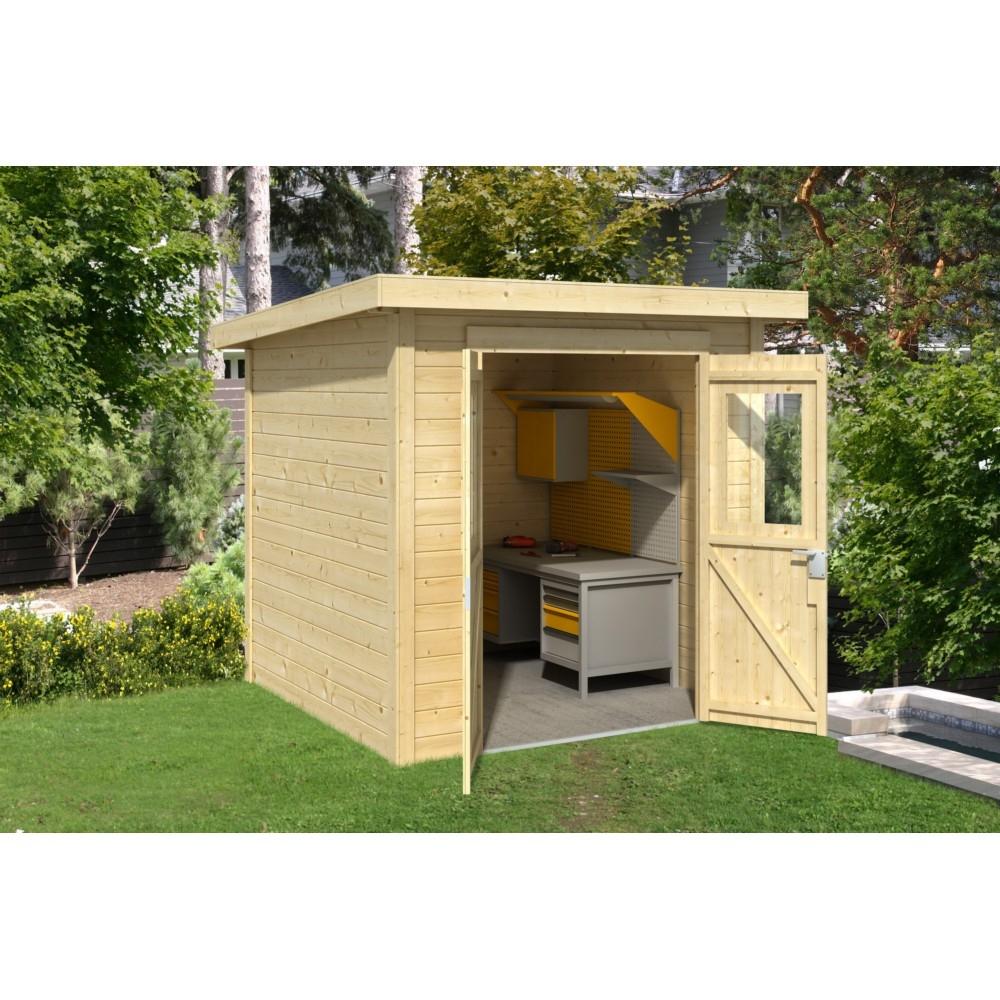 Abri De Jardin En Bois Nevada 3,73 M² intérieur Auvent De Jardin En Toile