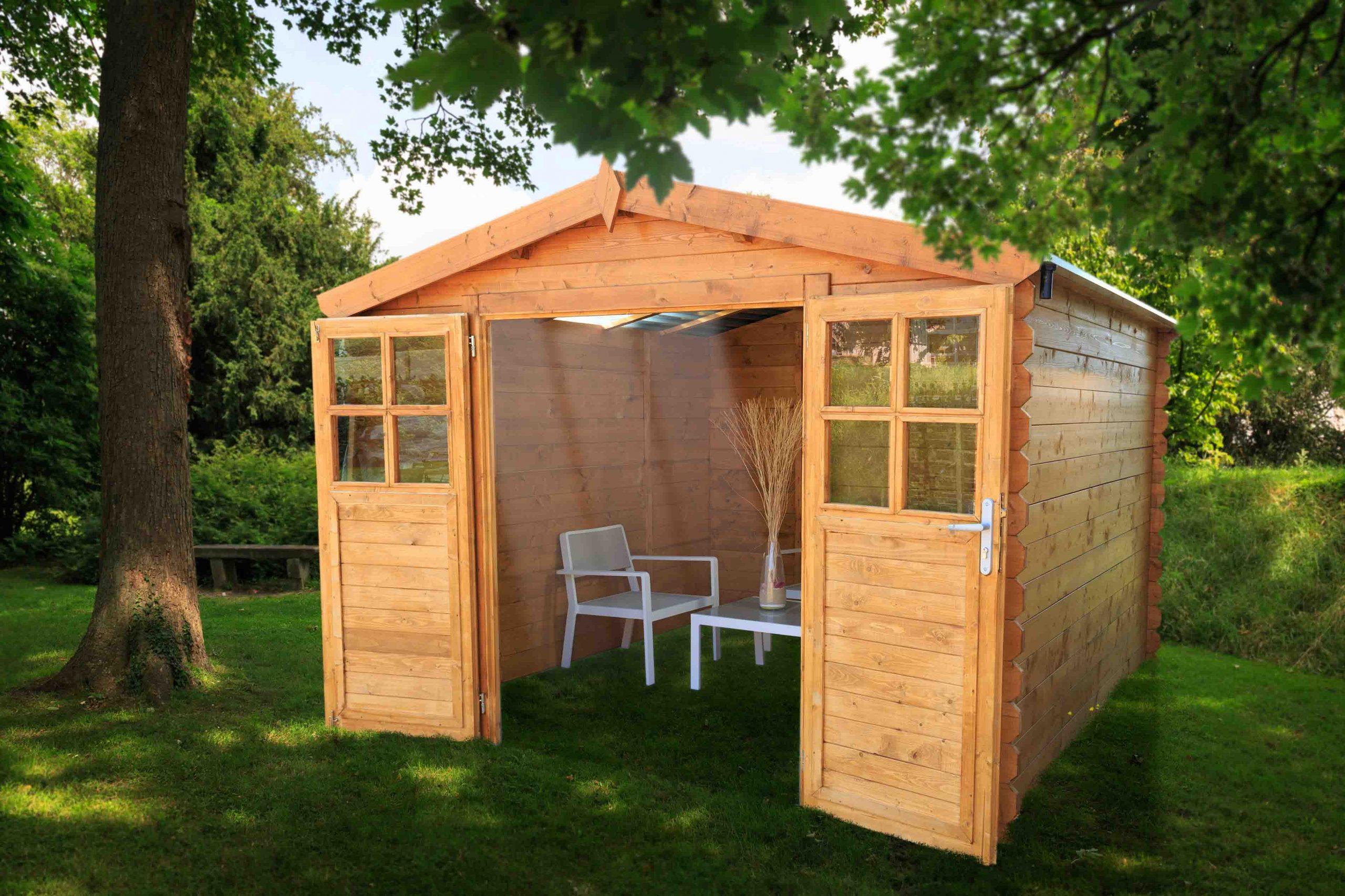 Abri De Jardin En Bois Soleil 3X3 Avec Toit Transparent ... à Abri De Jardin En Polycarbonate