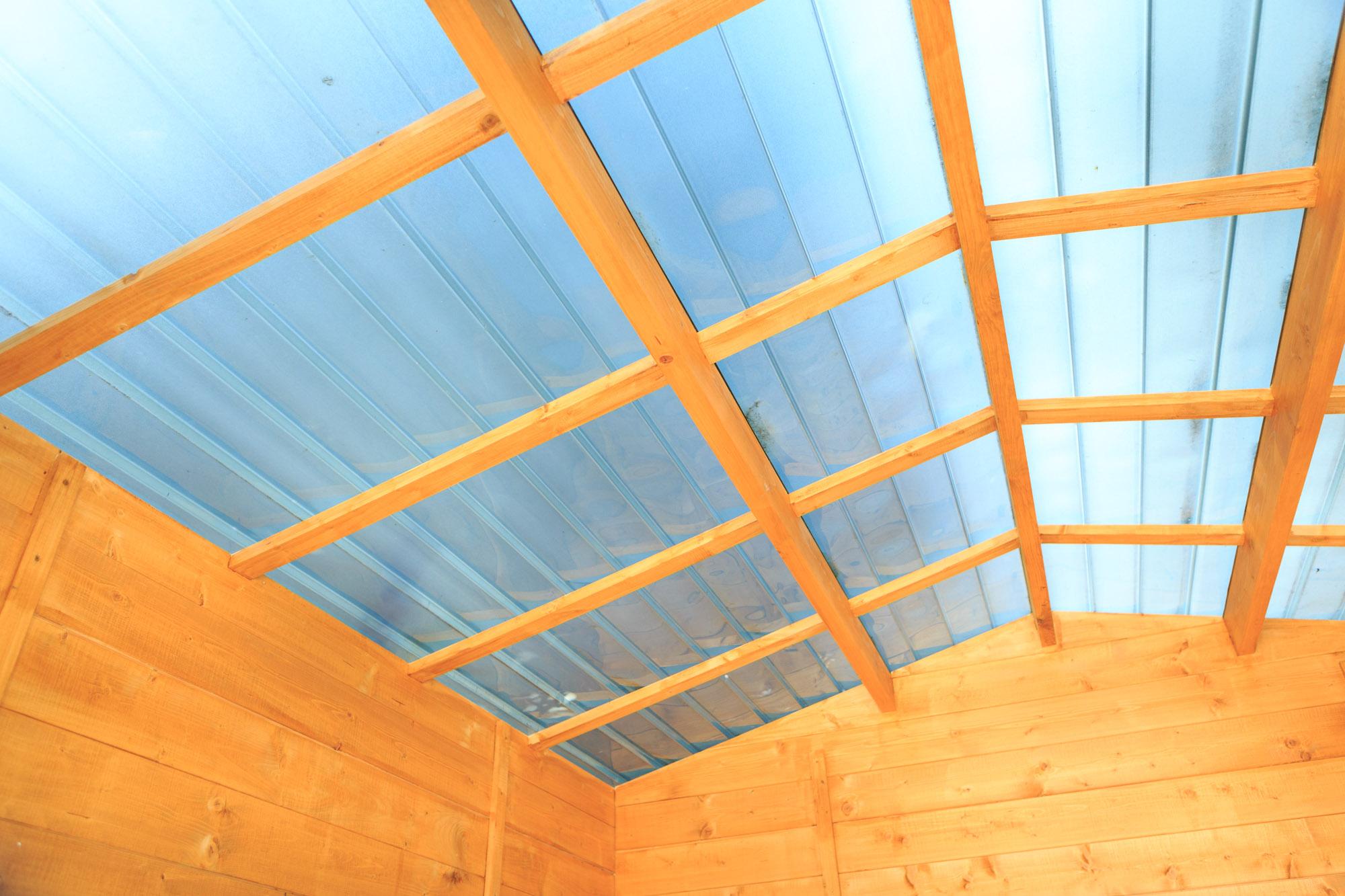 Abri De Jardin En Bois Soleil 3X3 Avec Toit Transparent ... dedans Abri De Jardin En Polycarbonate