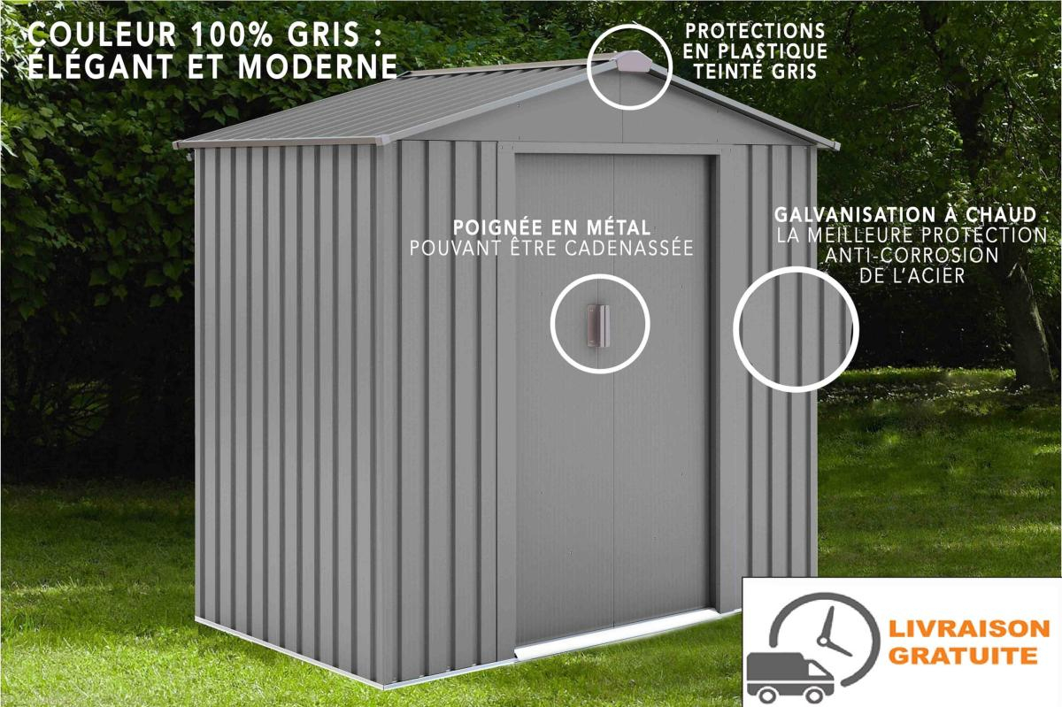 Abri De Jardin En Métal 2,5M² tout Abris De Jardin En Metal