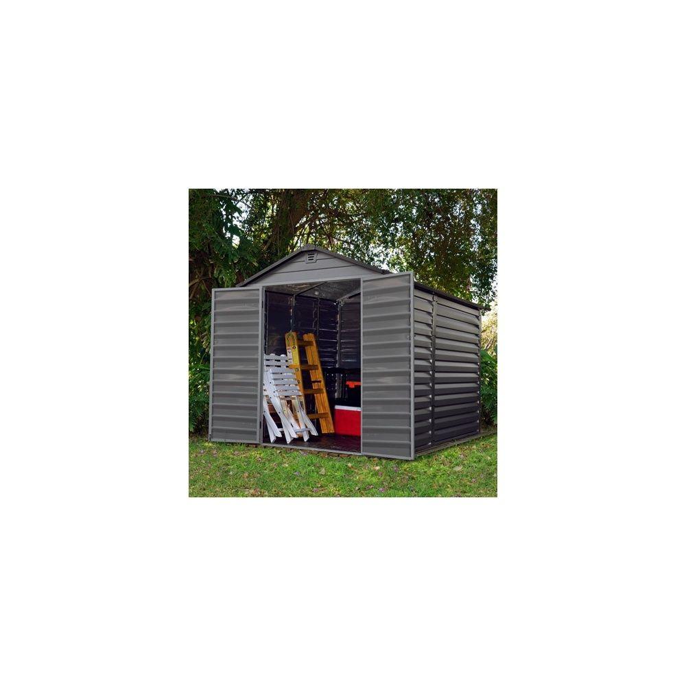 Abri De Jardin En Résine De Polycarbonate 4,5 M2 Skylight Anthracite dedans Abri De Jardin En Polycarbonate