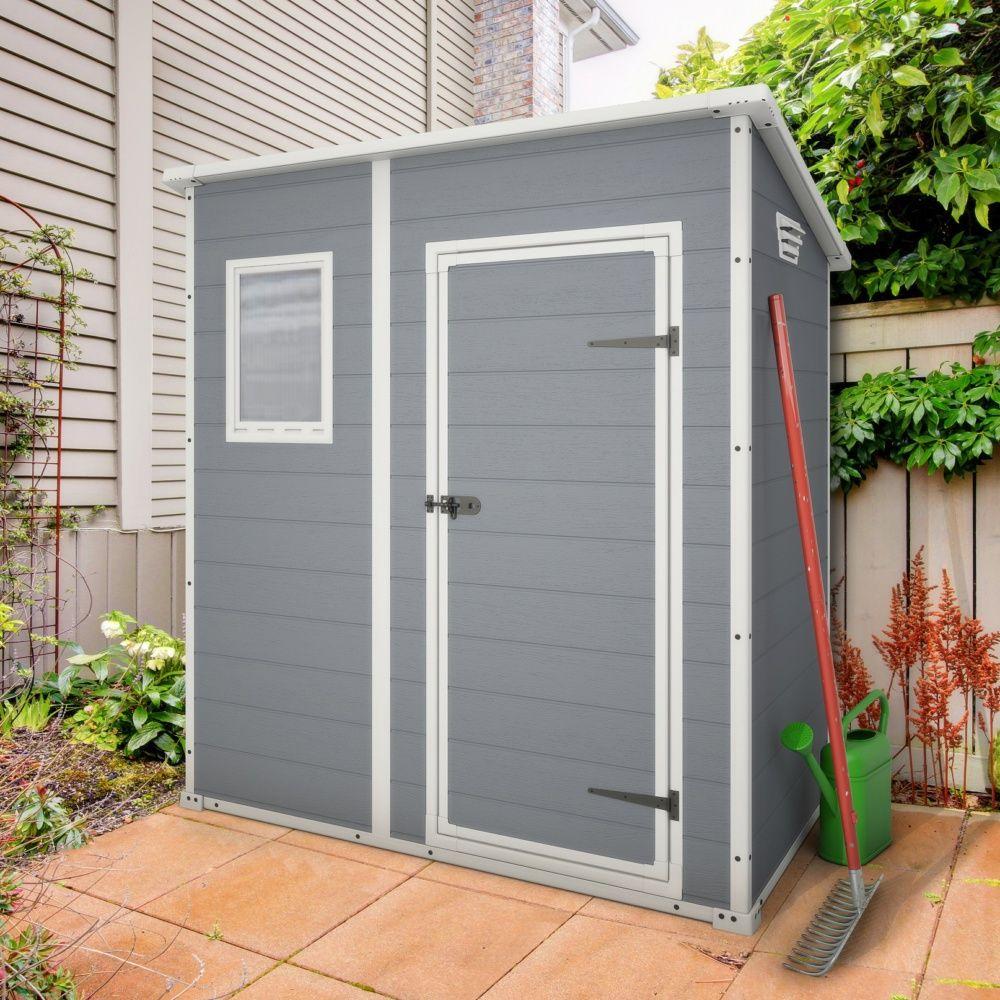 Abri De Jardin En Résine Keter Premium 64 1,6 M² Ep. 16 Mm avec Abri De Jardin Monopente