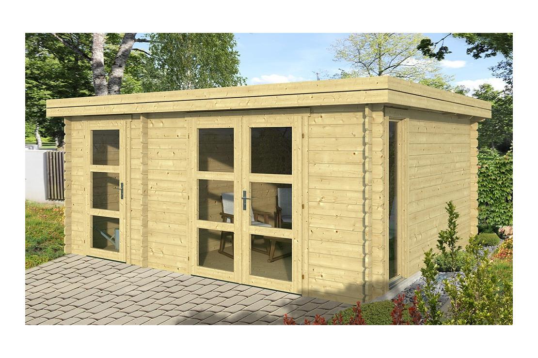 Abri De Jardin Hazebrouck 44 Mm - 15.71M² Intérieur encequiconcerne Fabricant Abri De Jardin Belgique