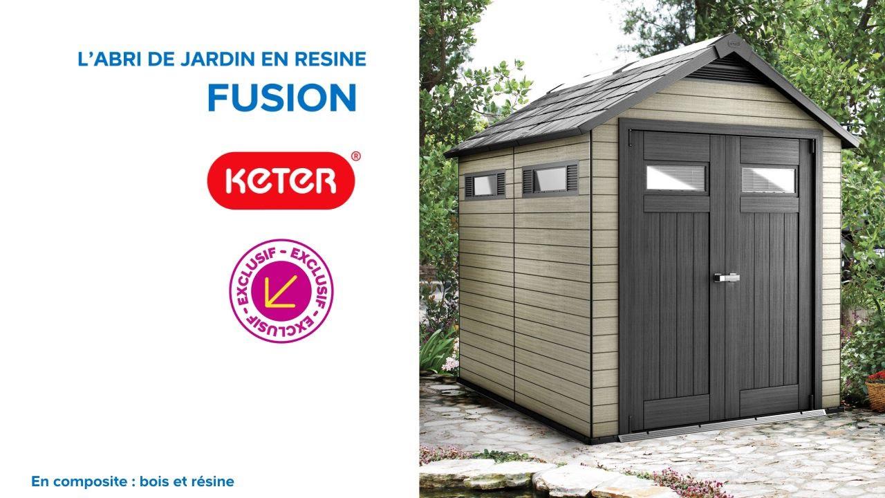 Abri De Jardin Keter Abri De Jardin En Résine Fusion 759 ... destiné Abri De Jardin En Résine Keter
