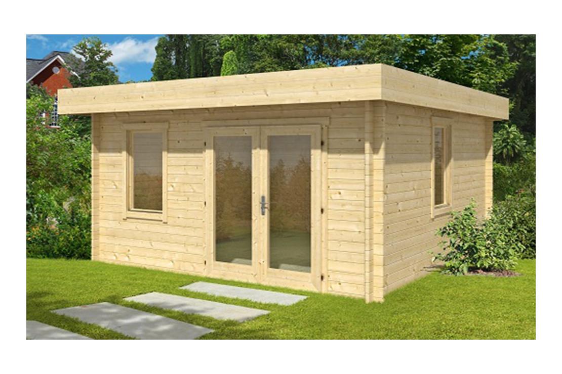 Abri De Jardin Lacanau 28 Mm - 15,5M² Intérieur concernant Abri De Jardin Toit Plat Pas Cher