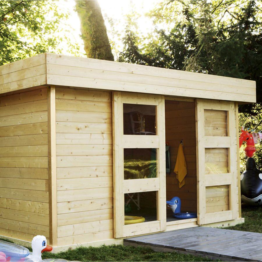 Abri De Jardin Leroy Merlin - Abri De Jardin En Bois ... intérieur Cabanon De Jardin Pas Cher