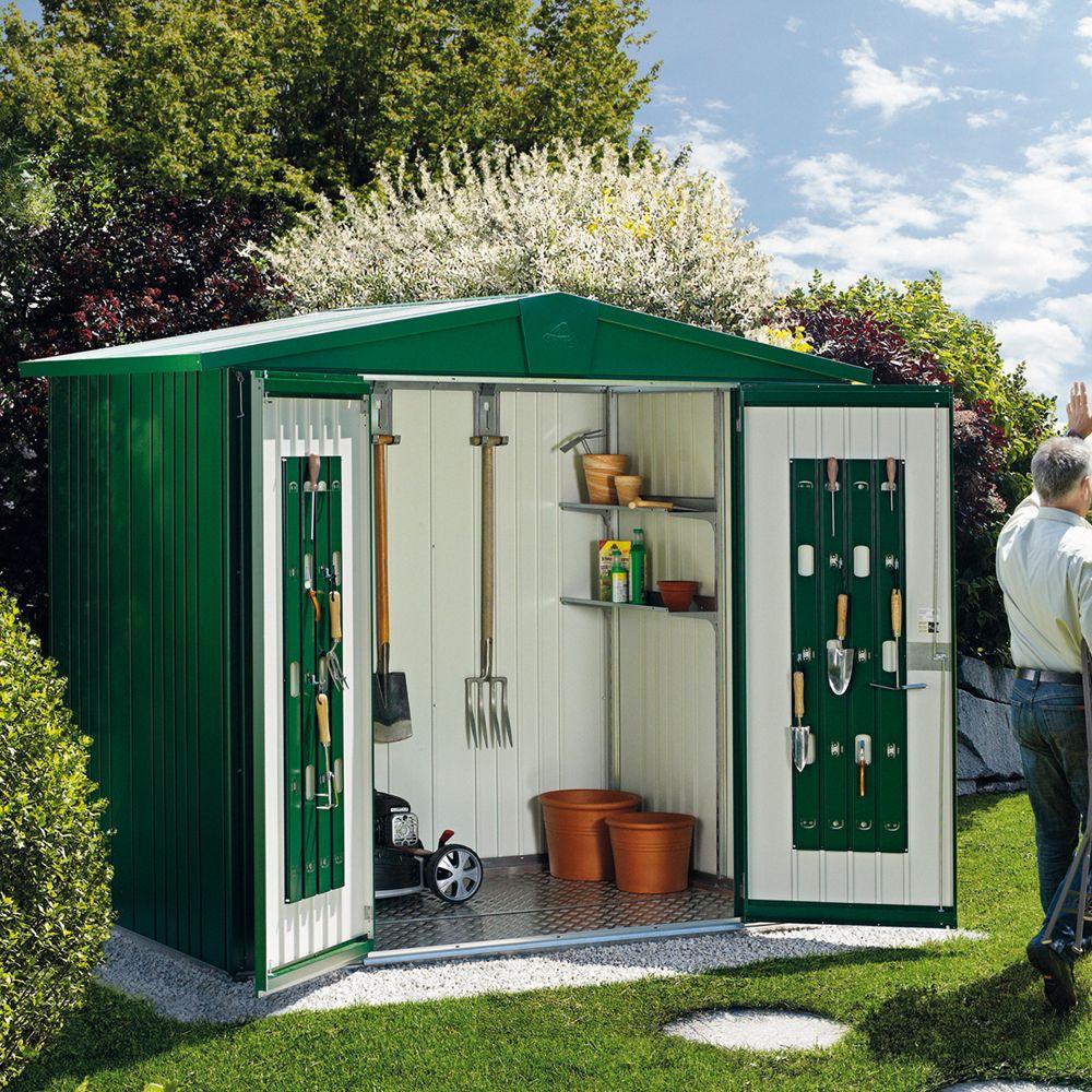 Abri De Jardin Métal 5,56 M² Ep. 0,53 Mm Europa 4 Biohort Vert Foncé pour Abri De Jardin Biohort