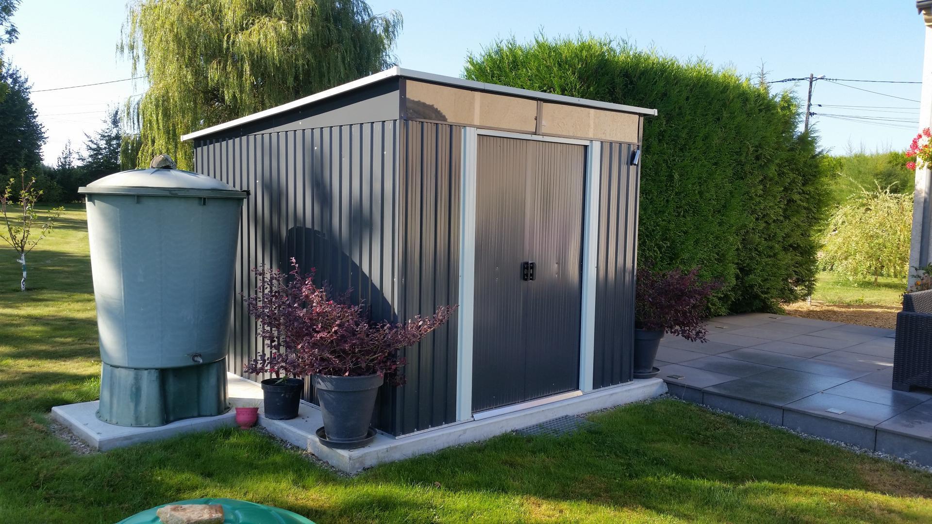 Abri De Jardin Métal 6,67M² Skylight Anthracite + Ancrage X ... à Fixation Abri De Jardin