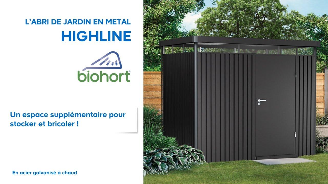 Abri De Jardin Métal High Line Biohort (638047) Castorama concernant Abri De Jardin Galvanisé