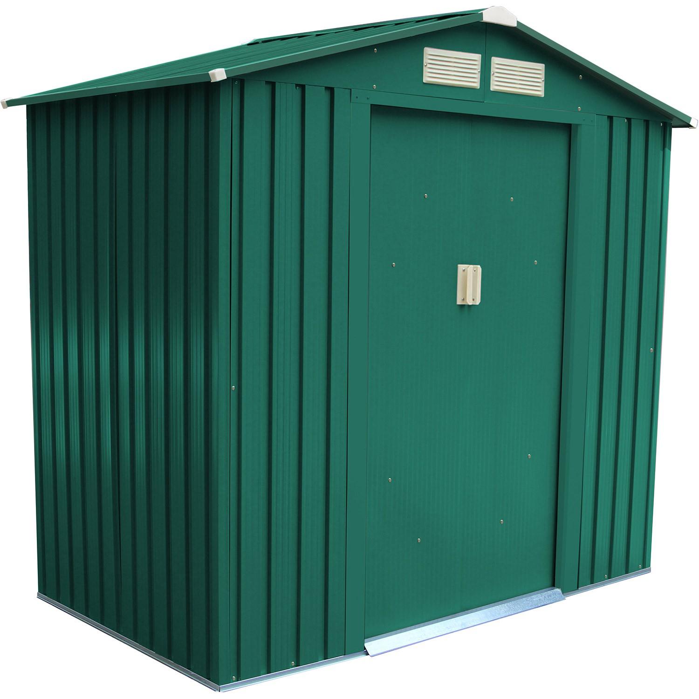 Abri De Jardin Métal Vert 2,12 M2. + Kit D'ancrage Inclus encequiconcerne Abri De Jardin Pas Cher Metal