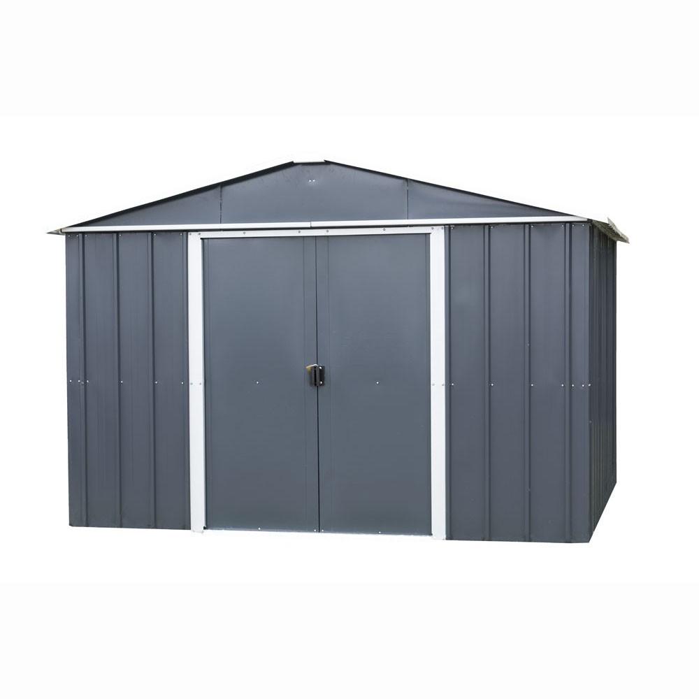 Abri De Jardin Métal Yard Master 12 M² Alu Et Gris Anthracite encequiconcerne Cabane De Jardin Metal